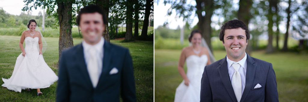 Bride and Groom First Look - Warba, Minnesota Wedding