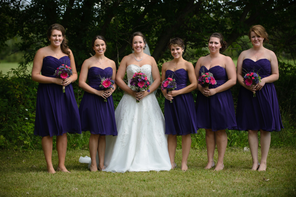 Bride and Bridesmaids  - Warba, Minnesota Wedding
