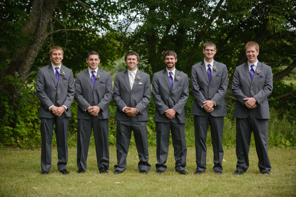 Groom and Groomsmen - Ron and Katy - Warba, Minnesota Wedding